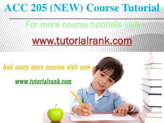 ACC 205 New course tutorial / TutorialRank