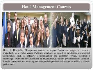 Hotel Management School Switzerland