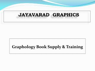 Graphology Book Supply And Training