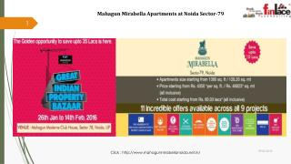 Mahagun Mirabella 2/3/4 BHK Apartments at Noida Sector-79