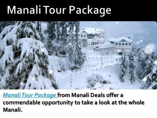 Manali tour package - ManaliDeals
