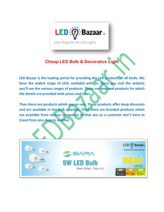 Cheap LED Bulb & Decorative Light