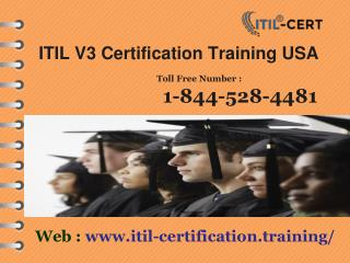 1-844-528-4481 Studying an ITIL Foundations Certification Training