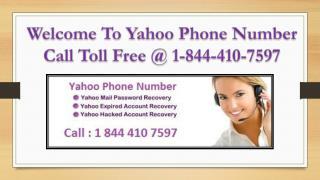 Yahoo Phone Number USA & Canada | 1-844-410-7597