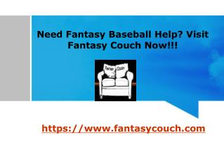 Fantasy Baseball Advice