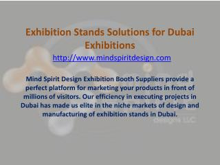 Exhibition Stands Solutions for Dubai Exhibitions