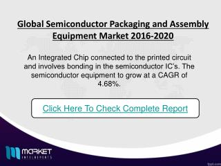 Revenue Analysis for Global semiconductor packaging and assembly equipment market upto 2020