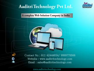 A complete Web Solution Company in India