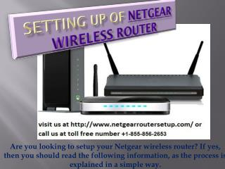 Netgear Router Setup Toll free  1-855-293-0942