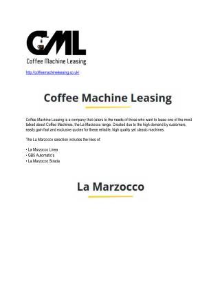 Coffee Machine Leasing