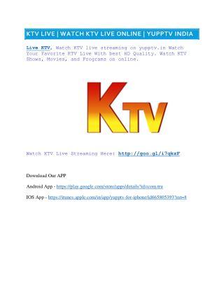 KTV Live | watch ktv live online free | ktv Tamil channel