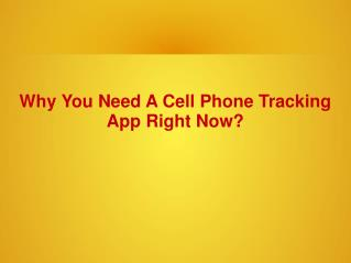 Why You Need A Cell Phone Tracking App Right Now?
