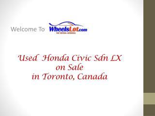 2013 Honda Civic Sdn LX on Sale in Toronto