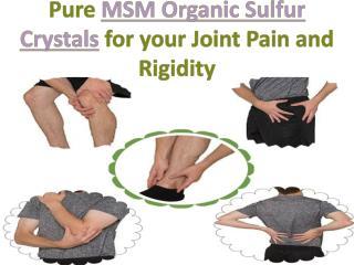 Pure MSM Organic Sulfur Crystals