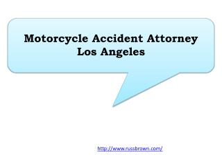 Motorcycle Accident Attorney Los Angeles