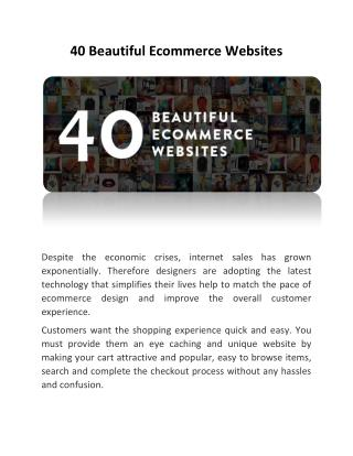 40 Beautiful Ecommerce Websites