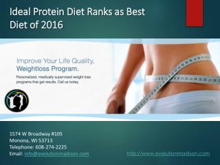 Ideal Protein Diet Ranks as Best Diet of 2016
