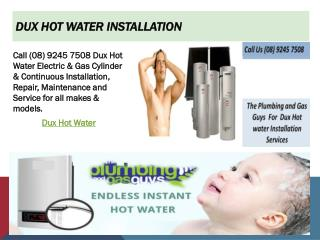 Dux Hot water Installation