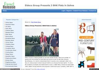 Eldeco Group Presents 3 BHK Flats in Sohna