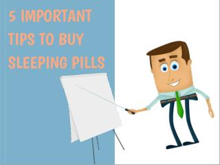 5 Important Tips Of Buying Sleeping Medication Online