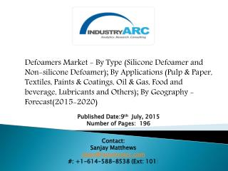 Defoamers Market By Type & Application 2020 | IndustryARC