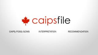 Welcome to caipsfile.ca, order CAIPS, FOSS and GCMS Notes