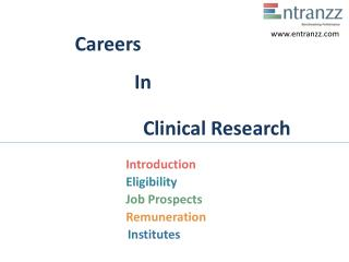 Careers In Clinical Researc