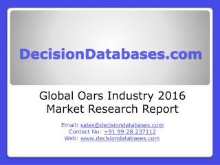 Global Oars Market 2016:Industry Trends and Analysis