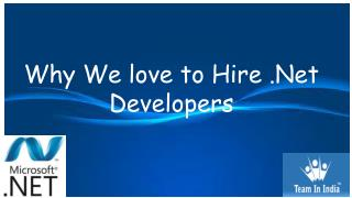 Why we Love to Hire .NET Developers