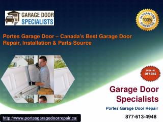 Garage Door Installation, Repair & Replacement Services – Portes Garage Door Repair