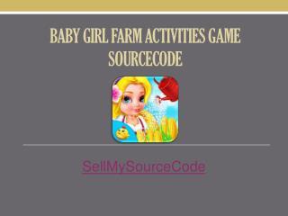 Baby Girl Farm Activities Game Sourcecode
