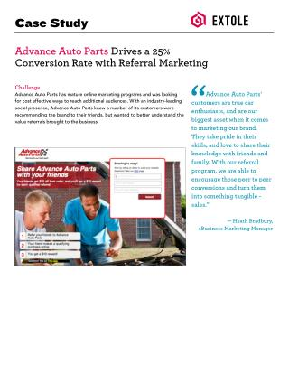 Extole Case Study Advance Auto Parts