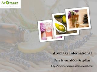 Pure Organic Essential Oils at Aromaaz International