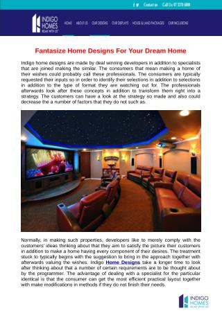 Fantasize Home Designs For Your Dream Home