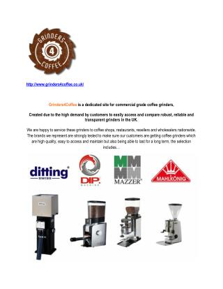 Grinders4Coffee is a dedicated site for commercial grade coffee grinders