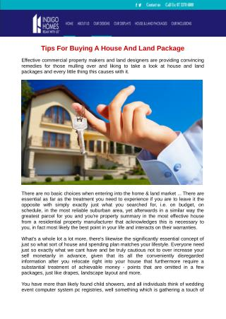 Tips For Buying A House And Land Package
