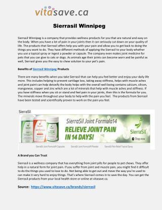 Sierrasil Winnipeg