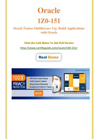 1Z0-151 Certification Test - Quality Training kits