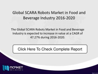 Global SCARA Robots Market in Food and Beverage Industry Market Size forecast 2020