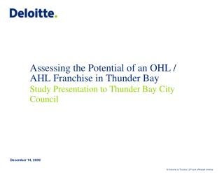 Assessing the Potential of an OHL