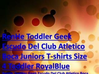 RenHe Toddler Geek Escudo Del Club Atletico Boca Juniors T-shirts Size 4 Toddler RoyalBlue