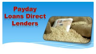 Payday Loans Direct Lenders