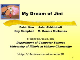 My Dream of Jini