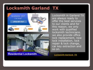Locksmith Garland TX