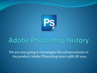 Adobe Photoshop History