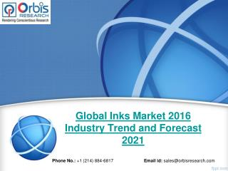 New Study on Inks Market 2016