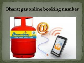 Bharat Gas Online Booking Number