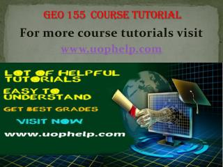 GEO 155 Squared Instruction Uophelp