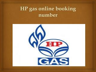 hp gas online booking number
