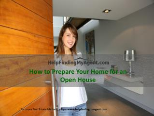 How to Prepare Your Home for an Open House
